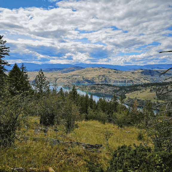 View of Kelowna while hiking the High Rim Trail