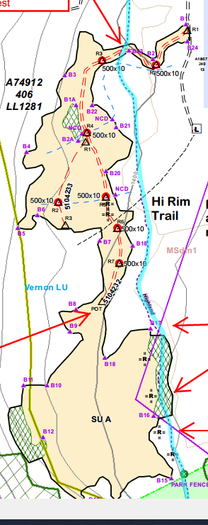 OHRT map of trail closure.
